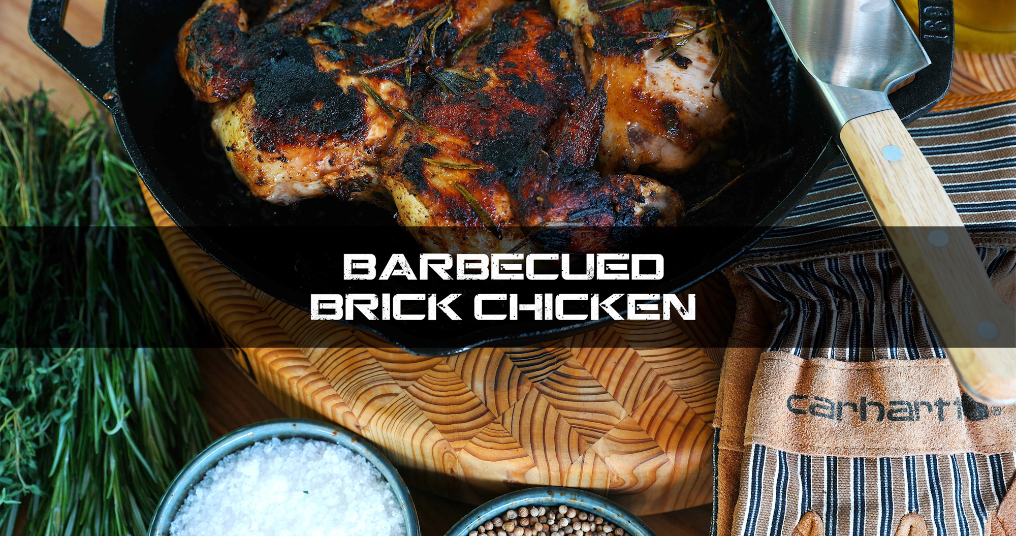 Barbecued Brick Chicken
