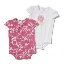 Double Up Flowered Bodyshirt - Girls