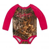 Camo Raglan Long Sleeve Bodyshirt - Girls