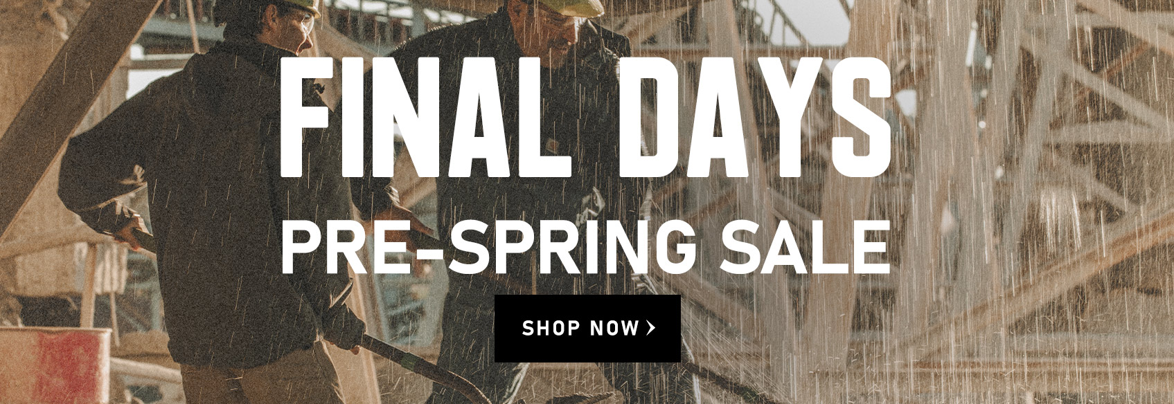 Final Days of the Pre-Spring Sale