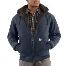 Sherpa Lined Zip Front Hooded Sweatshirt