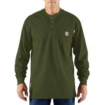 Flame-Resistant Force® Long Sleeve Cotton Henley T-Shirt