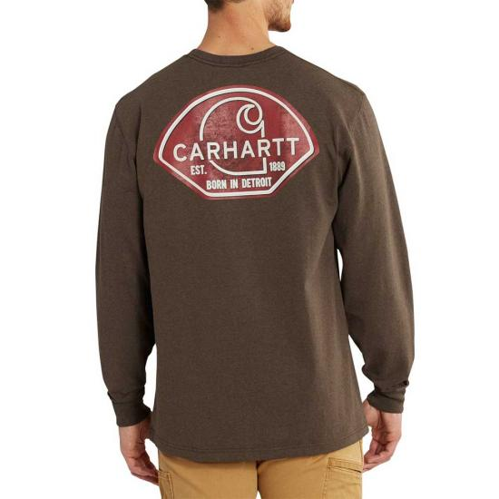 4dec186f0 Carhartt 102857 - Workwear Graphic Carhartt Patch Long Sleeve T ...