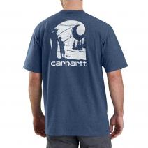 Workwear Graphic Fishing Filled C Short Sleeve T-Shirt