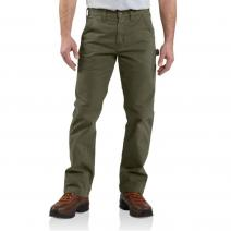 Washed Twill Relaxed Fit Pant