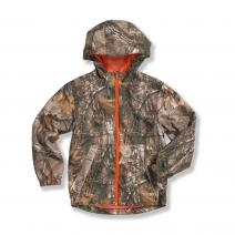 Packable Work Camo Hooded Rain Jacket - Boys