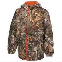 Camo Packable Rain Jacket - Boys