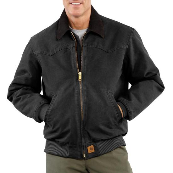 Carhartt J14 - Santa Fe Sandstone Duck Jacket - Quilted Flannel Lined