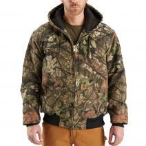 Camouflage Active Jacket - Quilted Flannel Lined