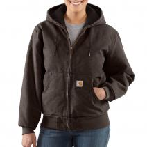 Women's Sandstone Active Jacket - Quilt Flannel Lined